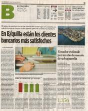 En Barranquilla están los clientes bancarios más satisfechos