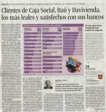 Clientes de Caja Social, Itaú y Davivienda, los más leales y satisfechos con sus bancos