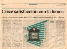 Crece satisfacción con la banca