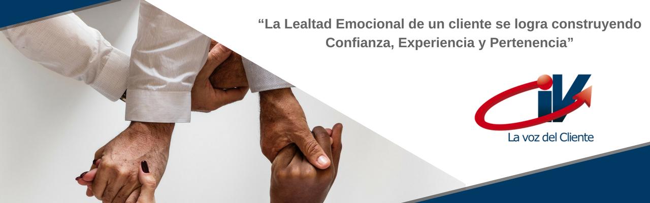 Lealtad emocional del cliente