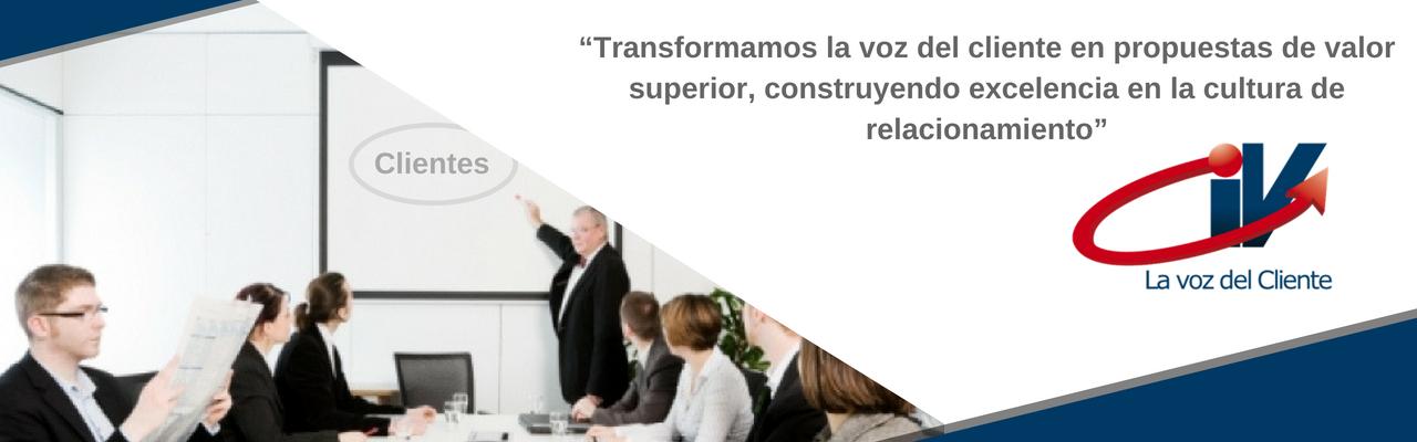 Transformamos la voz del cliente en propuestas de valor superior