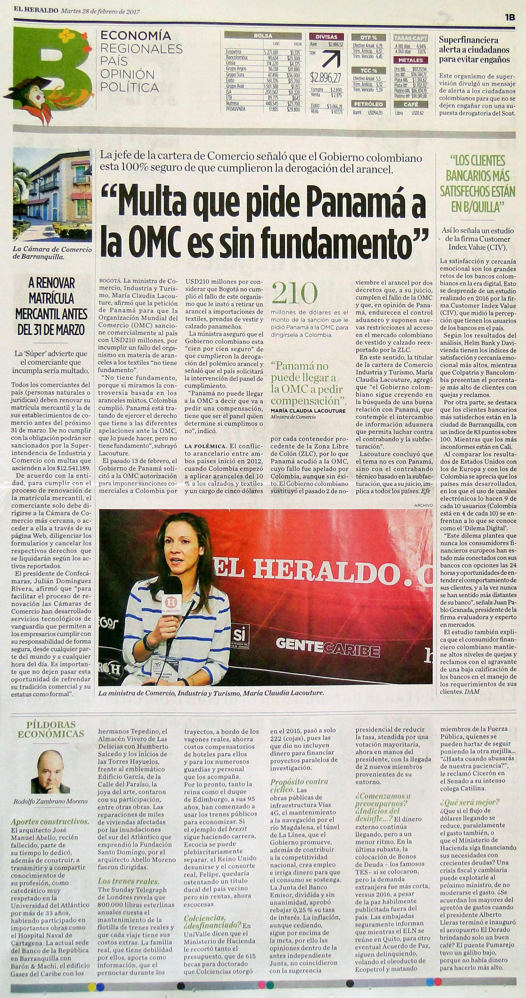Los clientes bancarios más satisfechos están en Barranquilla
