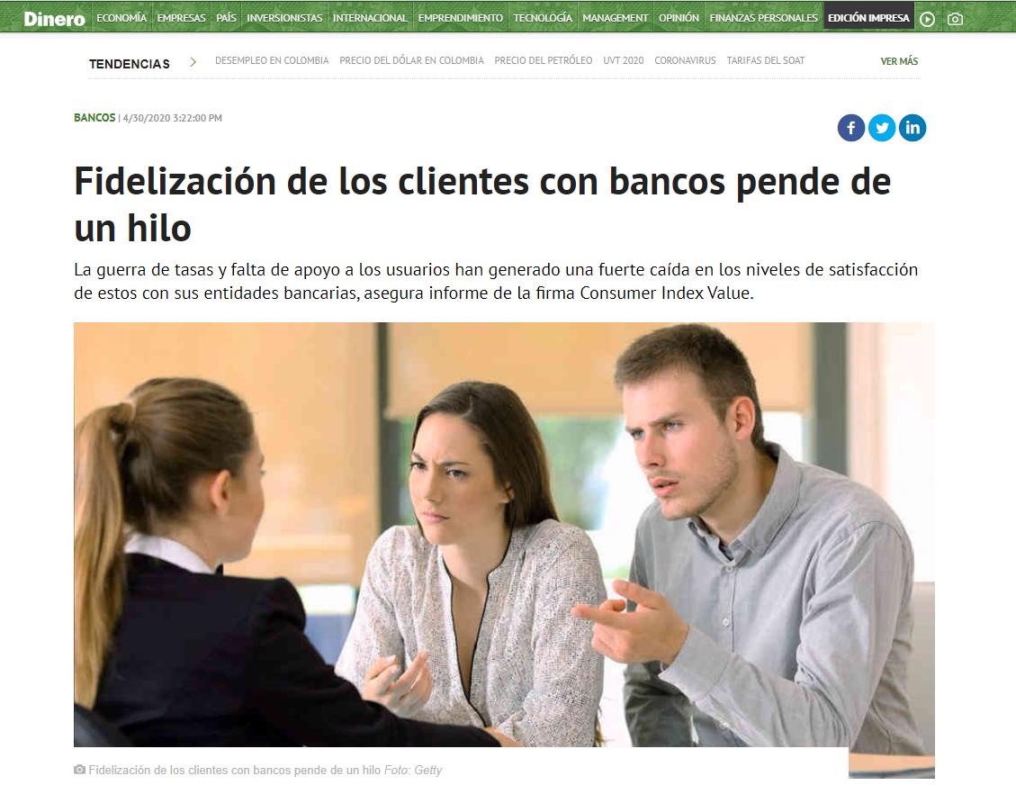 Fidelización de los clientes con bancos pende de un hilo